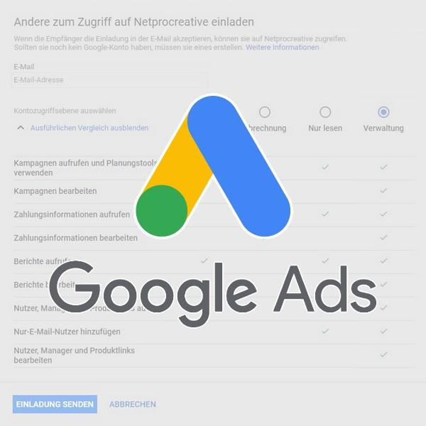 Google Ads: Zugriff für neuen Nutzer einrichten